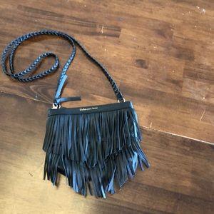 H&M black fringe small crossbody or shoulder bag